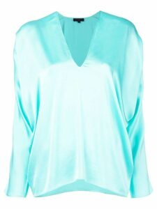 Antonelli draped blouse - Blue