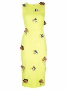 Christian Siriano embellished details dress - Green