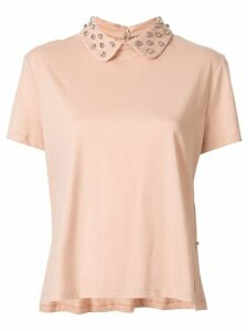Red Valentino embellished collar blouse - Pink