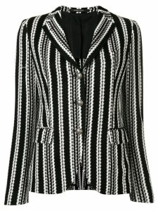 Tagliatore humbug striped knit blazer - Black