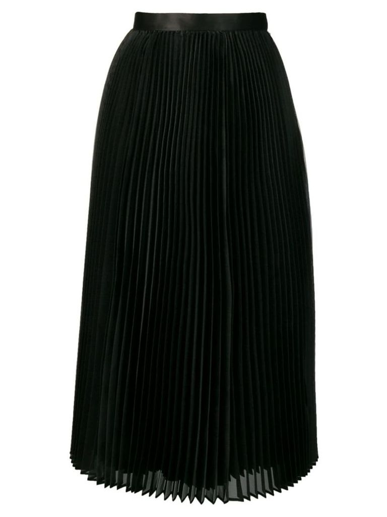 Junya Watanabe pleated flared midi skirt - Black