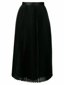 Junya Watanabe pleated flared midi skirt - Black