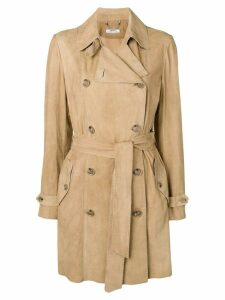 Desa 1972 suede trench coat - NEUTRALS