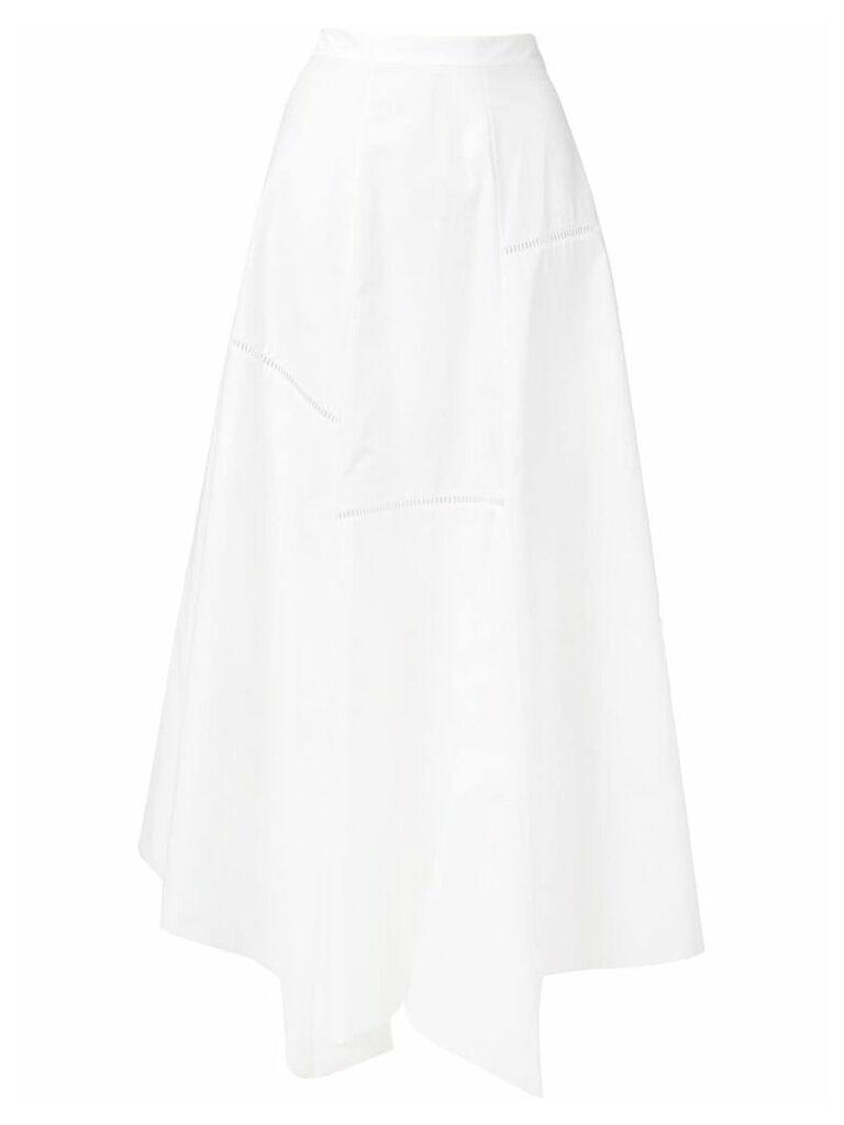 Loewe asymmetric hem skirt - White