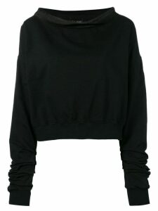 Andrea Ya'aqov boat-neck sweater - Black