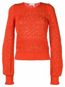 See By Chloé open knit jumper - Orange