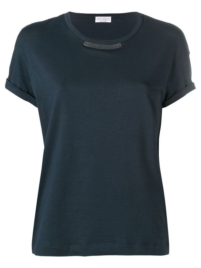 Brunello Cucinelli rolled sleeve T-shirt - Blue