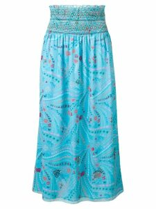 Zadig & Voltaire Jess Long Print skirt - Blue
