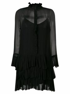 Zadig & Voltaire sheer ruffle dress - Black