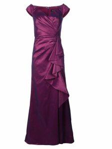 Tadashi Shoji ruffled panel gown - Purple