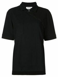 Monse asymmetric buttoned polo shirt - Black
