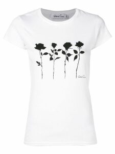 Richard Quinn floral-print T-shirt - White