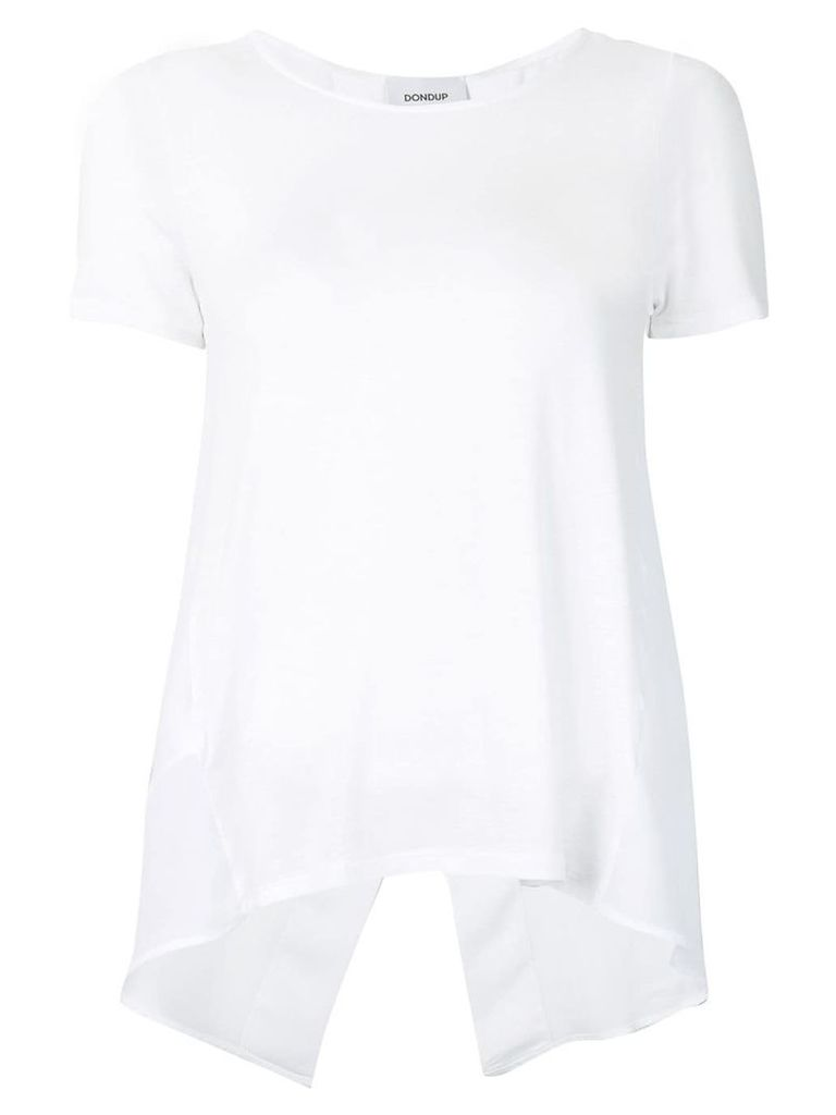 Dondup splice back T-shirt - White