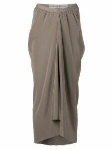 Rick Owens gathered skirt - Grey