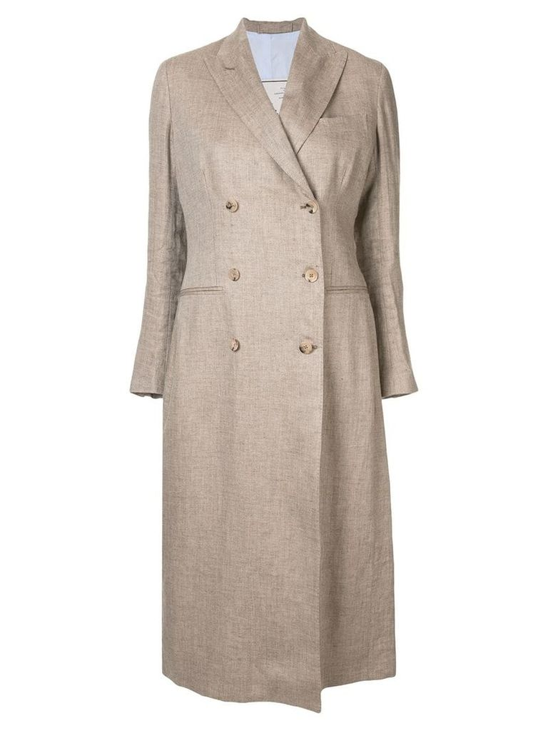 Giuliva Heritage Collection linen trench coat - Brown