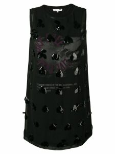 McQ Alexander McQueen embellished shift dress - Black