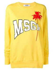 MSGM logo sweatshirt - Yellow