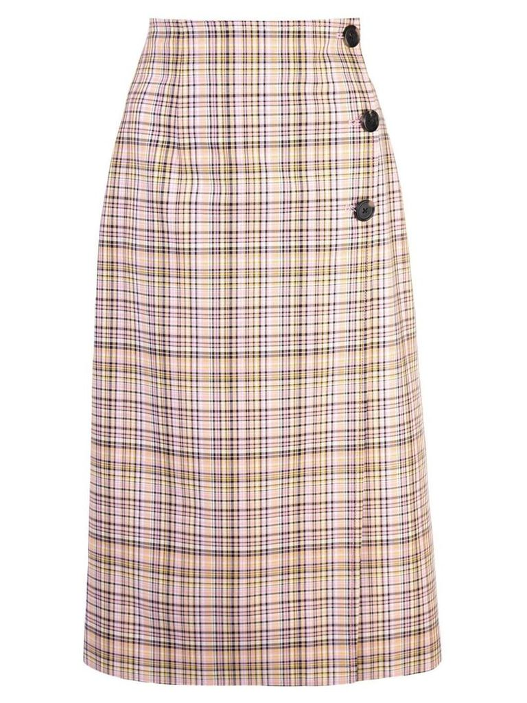 Carolina Herrera plaid wrap skirt - Pink