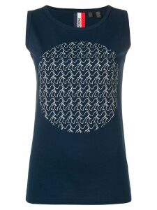 Rossignol logo moon tank top - Blue