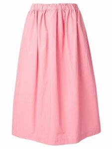 Plan C flared midi skirt - Pink