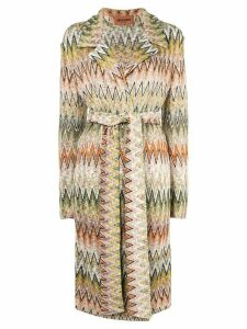 Missoni belted pattern coat - Multicolour