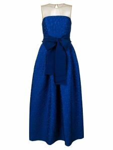 P.A.R.O.S.H. strapless flared dress - Blue
