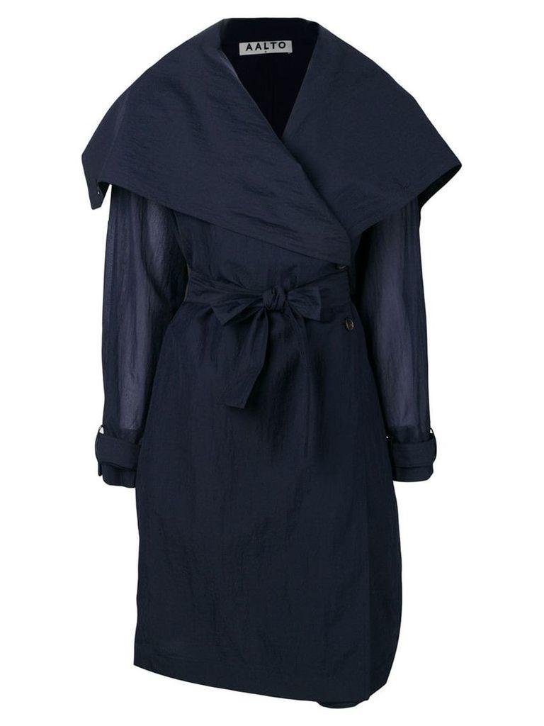 Aalto foldover collar coat - Blue
