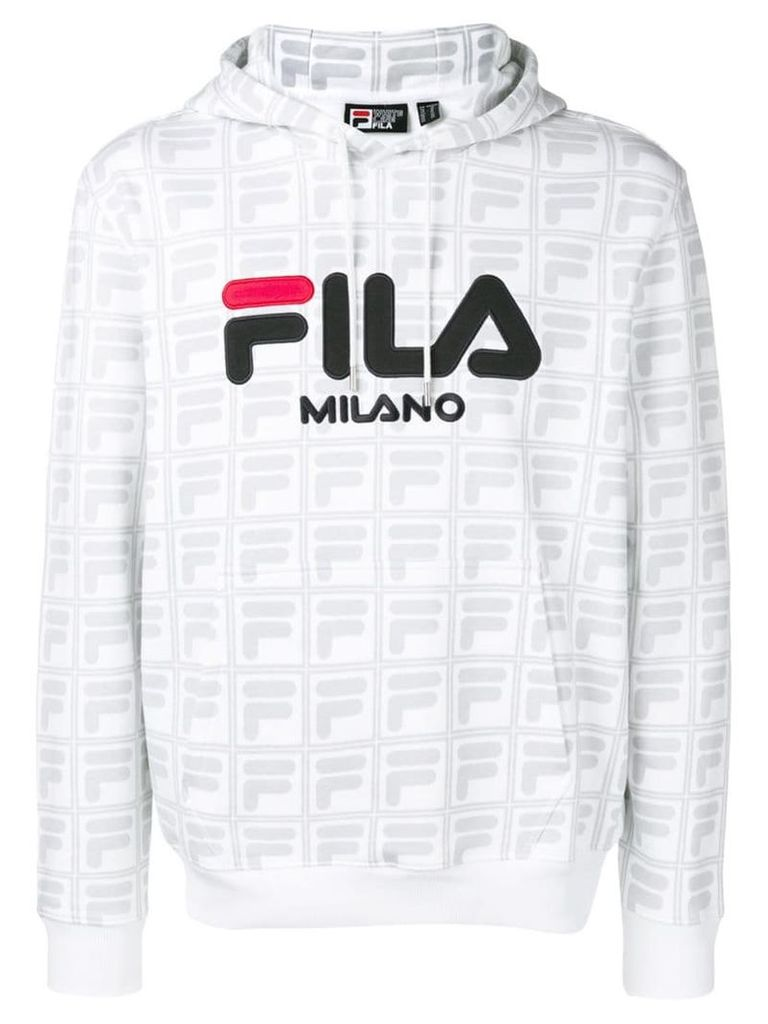 Fila logo print hoodie - White