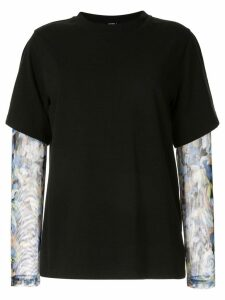 Goen.J layered T-shirt - Black