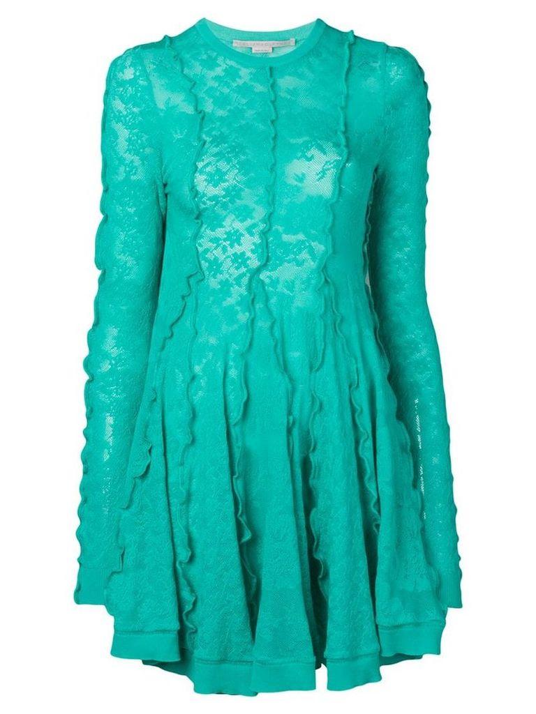 Stella McCartney linear lace skater dress - Green