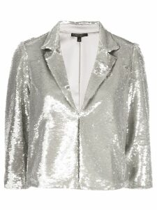 Alberto Makali embellished fitted blazer - Silver