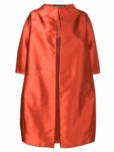 Gianluca Capannolo satin cocoon coat - Orange