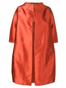 Gianluca Capannolo satin cocoon coat - Orange