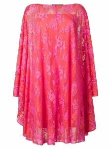 Gianluca Capannolo flared lace dress - Pink