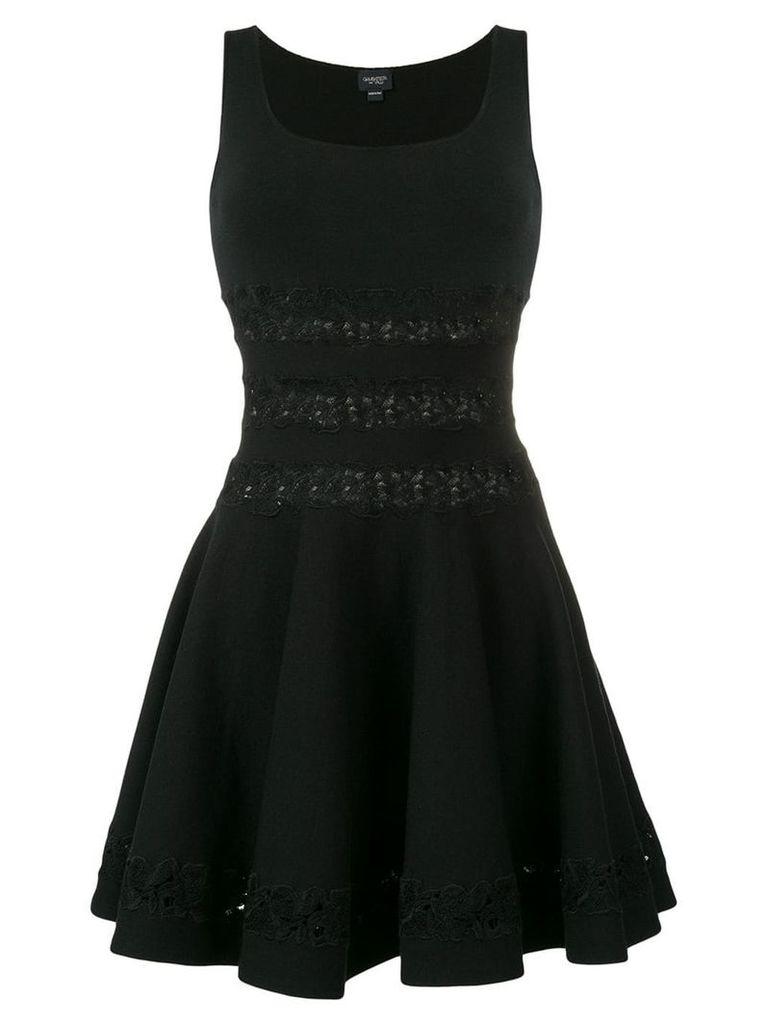 Giambattista Valli floral embroidered mini dress - Black