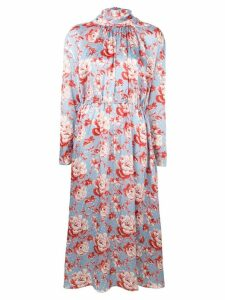 Magda Butrym floral print silk dress - Blue