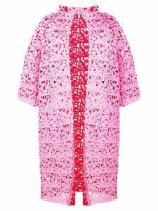 Gianluca Capannolo floral laser cut coat - Pink