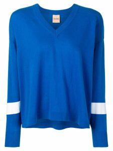 Nude contrast stripe jumper - Blue