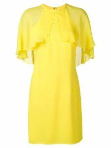 Karl Lagerfeld cape overlay dress - Yellow