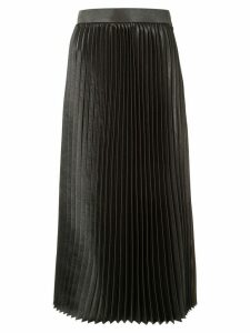 Goen.J pleated midi skirt - Brown