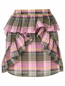 Goen.J checked mini skirt - Pink