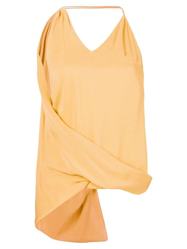 Jacquemus twist halter-neck top - Orange