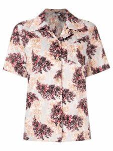 Goen.J floral print shirt - Grey