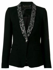 Philipp Plein crystal lapel tuxedo blazer - Black
