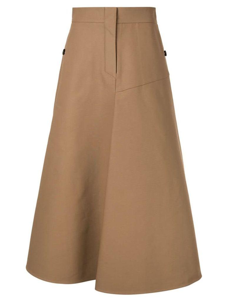 Goen.J A-line midi skirt - Brown