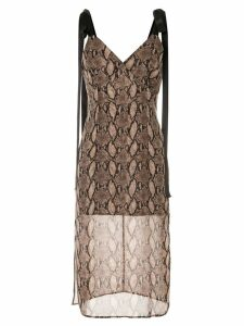 Goen.J Vegas printed sleeveless dress - Brown