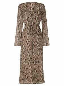Goen.J Vegas printed wrap dress - Brown