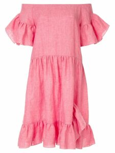 Goen.J ruffled off-the-shoulder dress - Pink
