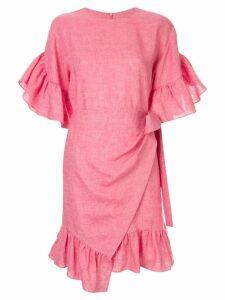 Goen.J short wrap dress - Pink