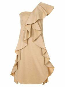 Goen.J one shoulder mini dress - Brown